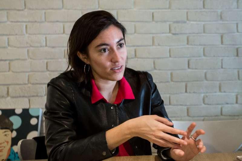 20190202-法國國會議員佛蒂薩(Paula Forteza)專訪。(顏麟宇攝)