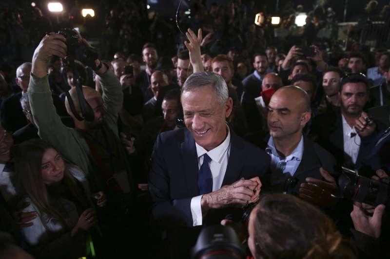 以色列國會改選,中間派的前參謀長甘茨是納坦雅胡主要對手(AP)