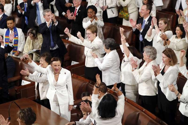 2019美國國情咨文:美國總統川普讚揚女力崛起,這屆國會女議員人數創新高(AP)