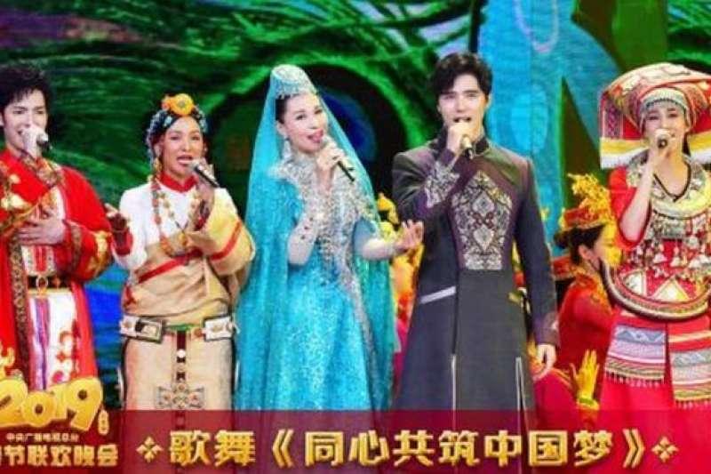 農曆除夕,中國為慶祝農曆豬年,播出了四個小時的年度春節聯歡晚會。