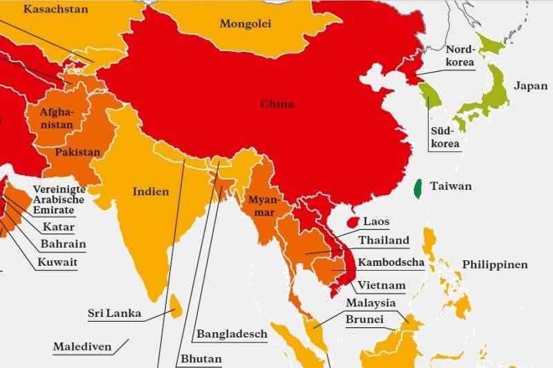 全球「公民社會地圖」台灣被列為45個「開放國家」之一!(Atlas der Zivilgesellschaft)