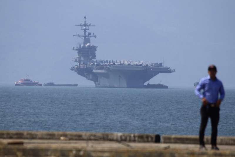 2018年5月,美國海軍卡爾文森號航空母艦訪問越南(AP)