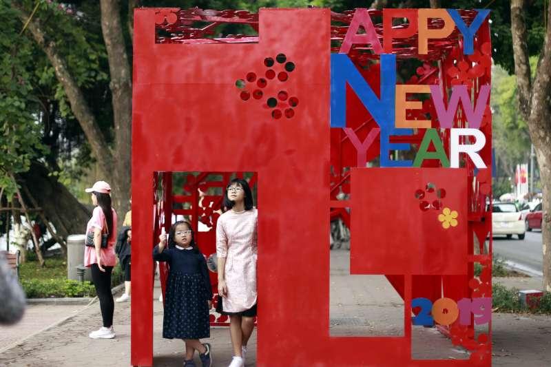 2019年農曆新年,越南首都河內(AP)