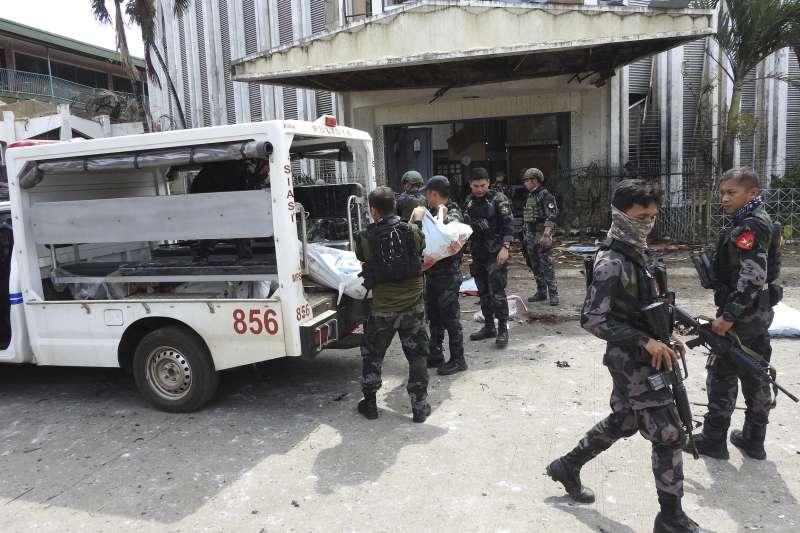 2019年2月,伊斯蘭國附隨組織在菲律賓發動恐怖攻擊(AP)