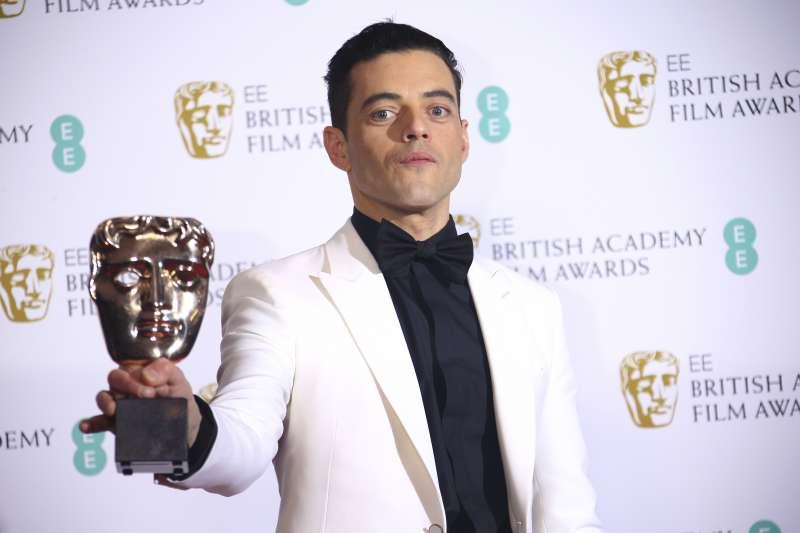 第72屆英國影藝學院獎(BAFTA):雷米馬利克以《波希米亞狂想曲》抱回最佳男主角(AP)