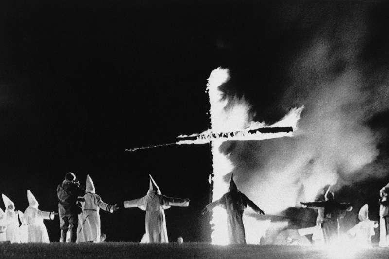 美國維吉尼亞州的三K黨(Ku Klux Klan)集會(AP)