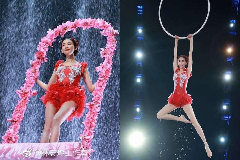 林志玲在春晚的表演獲得滿堂彩後,她的跳水替身卻上網爆料內幕。(圖/林志玲Chiling Lin@facebook)