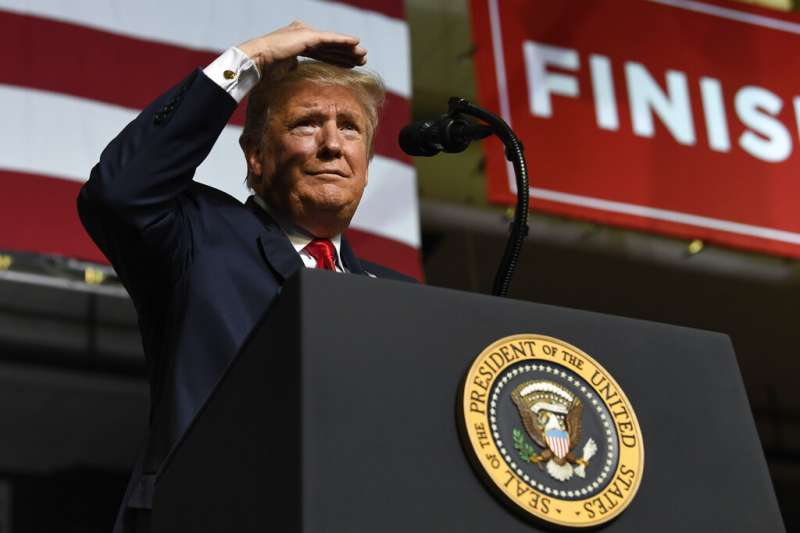 2019年2月11日,美國總統川普在德州舉行造勢集會。(AP)