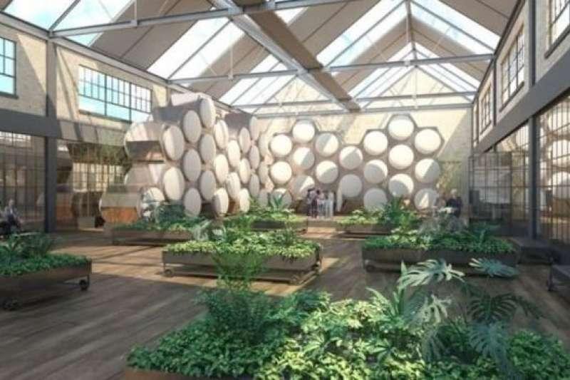 未來的城市喪葬中心,沒有骨灰盒,只有一盒盒肥料土壤。