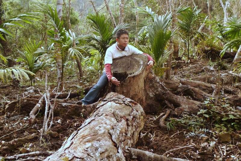 2012年,李根政調查出台東長年有一塊國有原始林地為種檳榔而遭噴藥毀壞,相關單位卻互踢皮球。(李根政提供)