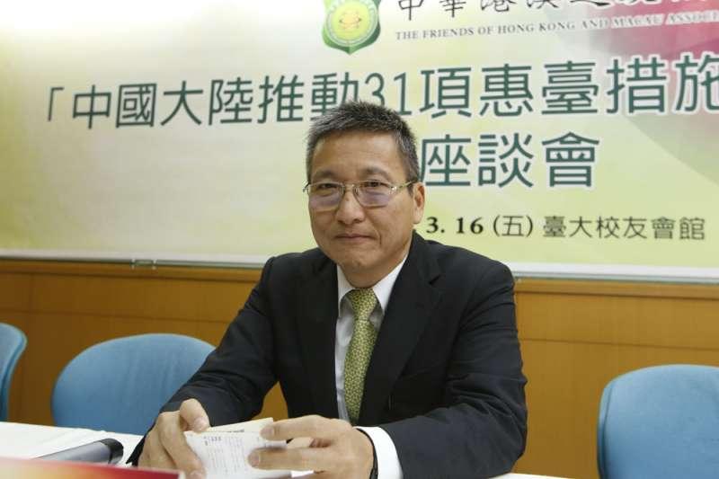 淡江大學兩岸研究中心主任張五岳獲得中國各級涉台系統的信任。(郭晉瑋攝)