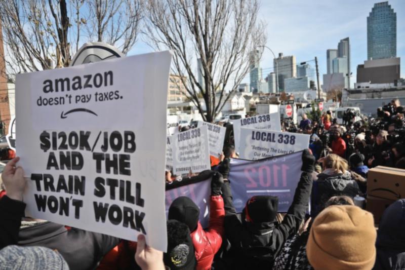 籌備一年的亞馬遜第二總部營造計畫,原本選定紐約市皇后區的長島市,現在因為當地反對聲浪,宣布正式取消。(圖/Jairo Rodriguez via Twitter)
