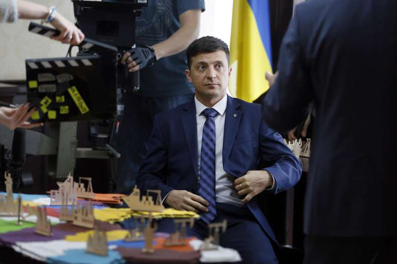 喜劇演員哲連斯基將角逐3月的烏克蘭總統大選。(美聯社)