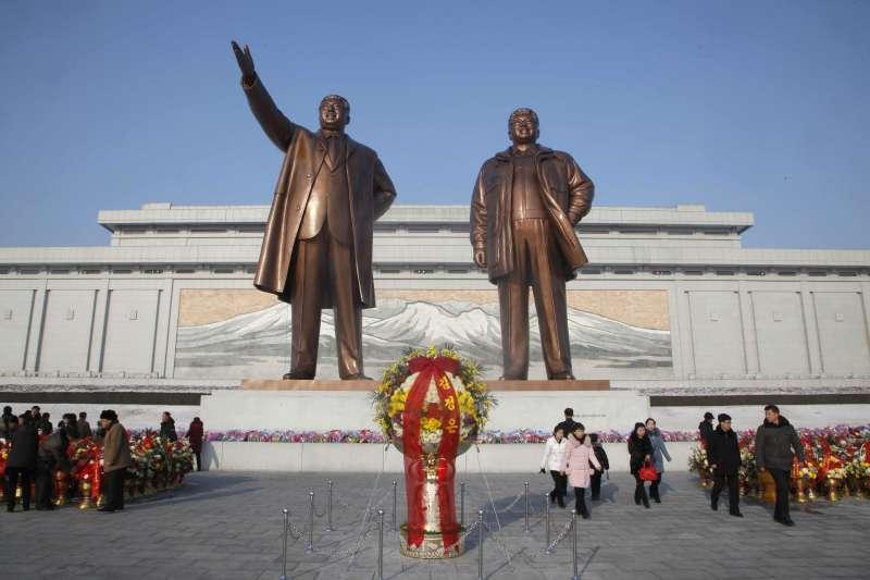 2019年2月16日,北韓舉辦活動紀念「光明星節」,前任領導人金正日77歲冥誕(AP)