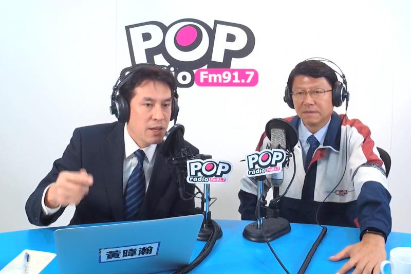 國民黨台南市議員謝龍介(右)今(19)日受訪表示,台北市長柯文哲參選2020機會很高,但與民進黨合作機會不大。(取自917 POP Radio官方頻道@Youtube)
