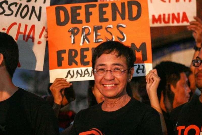 菲律賓日前舉行集會捍衛新聞自由。(BBC中文網)