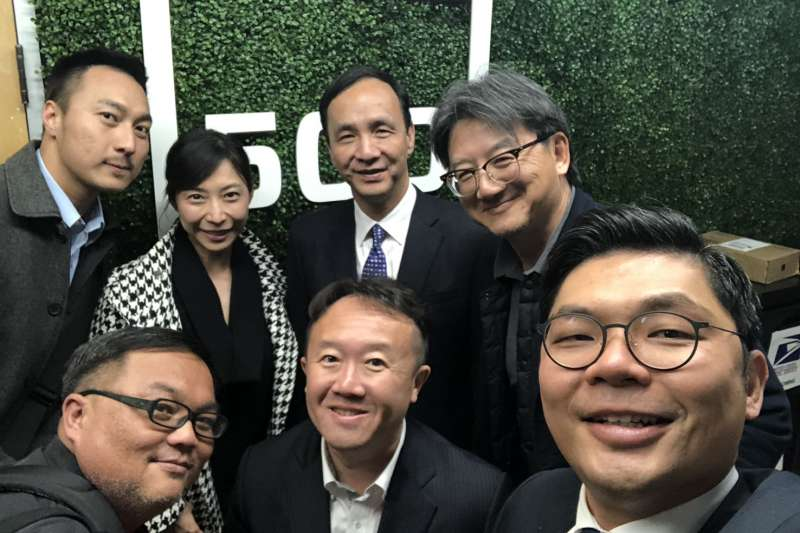 20190219-前新北市長朱立倫與國民黨立委許毓仁目前正在美國進行「PowerUP Taiwan產業學習之旅」。 (許毓仁辦公室提供)