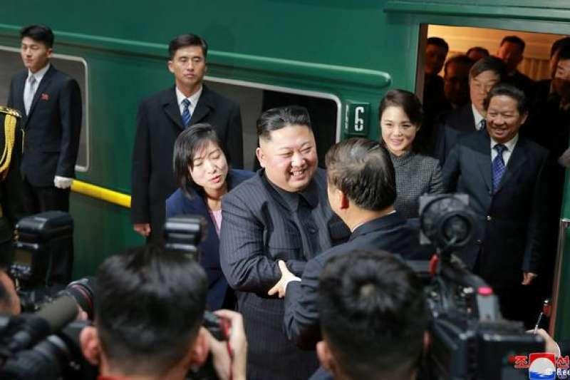金正恩今年1月10日乘專列抵達北京