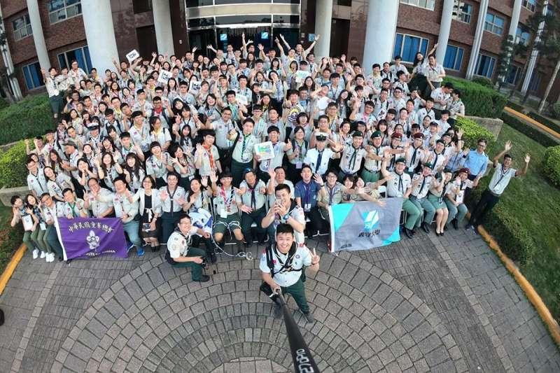 「童軍全國羅浮群長年會」連續五天在義守大學舉行,來自多國的羅浮童軍青年百餘人參加。(圖/義守大學提供)