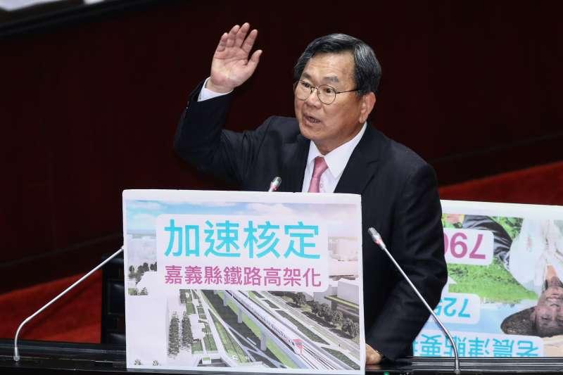 20190222-民進黨立委陳明文22日於立院質詢。(蔡親傑攝)
