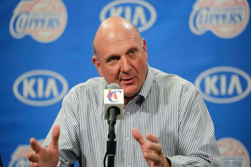 快艇老闆鮑爾默立志要為球隊蓋場館,僅專屬給籃球使用。(美聯社)