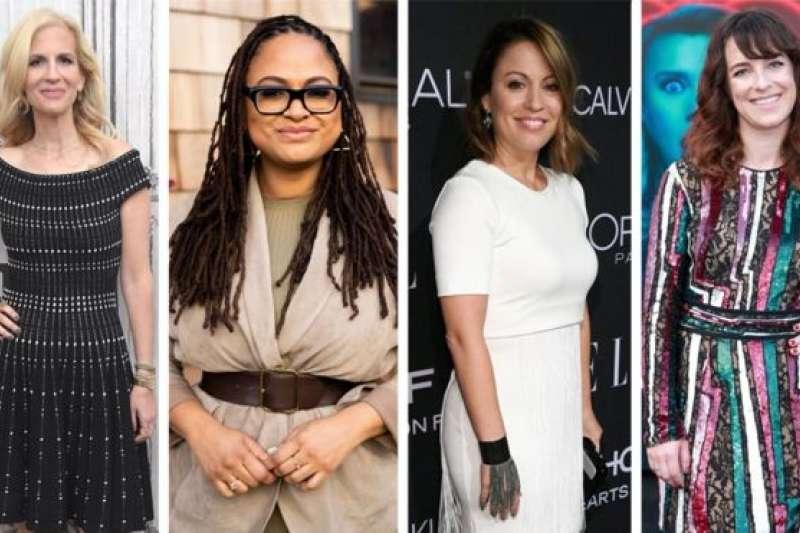 自左至右:艾比考恩(Abby Kohn)、阿娃杜威內(Ava DuVernay)、凱佳能(Kay Cannon)和蘇珊娜佛格(Susanna Fogel),她們是2018年前100位票房電影中僅有的女性導演。