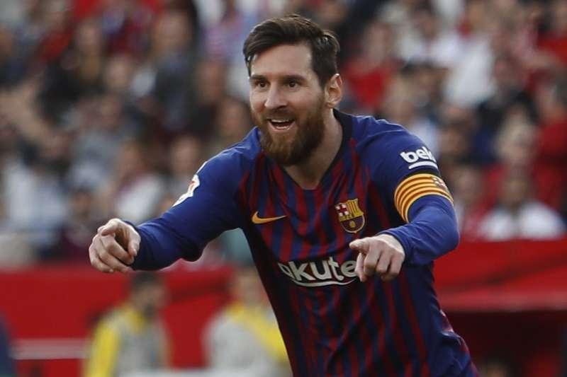 梅西單場進帳3球,上演生涯第50個「帽子戲法」。高展楊