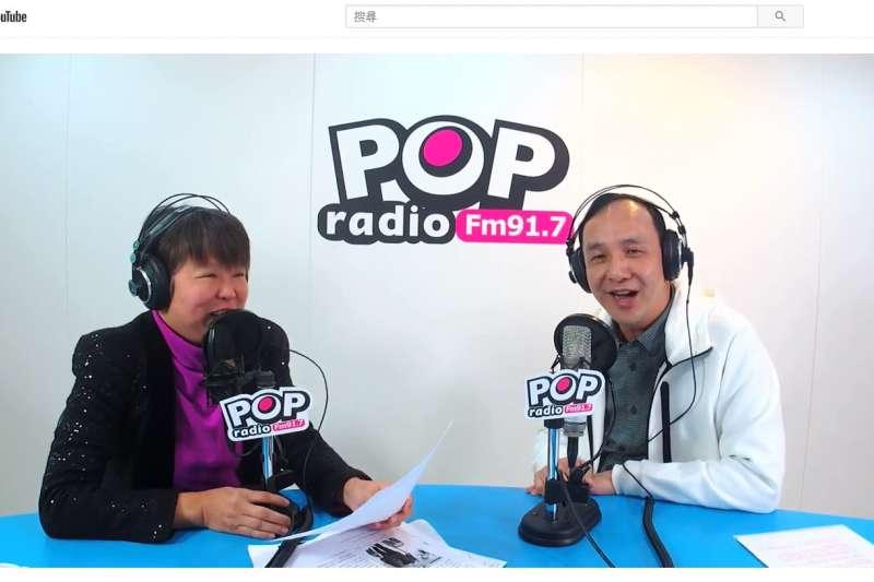 前新北市長朱立倫接受《POP搶先爆》主持人黃光芹專訪。(《POP搶先爆》提供)