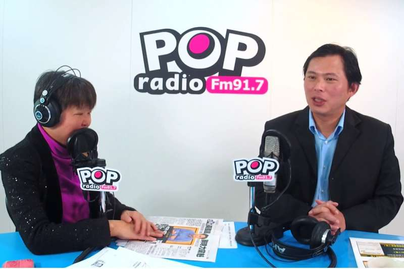 《POP搶先爆》黃光芹專訪黃國昌。(《POP搶先爆》提供)