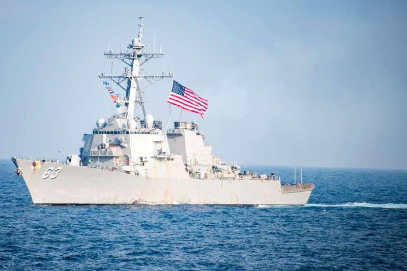 美軍驅逐艦史塔森號。(翻攝史塔森號臉書)