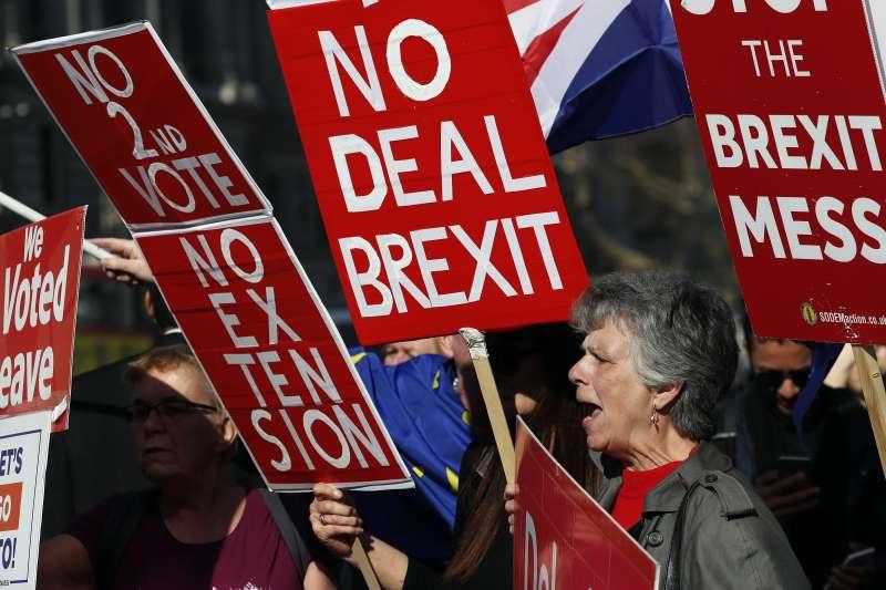 英國脫歐:首相梅伊表態,不支持無協議脫歐,就要延長退出期限(AP)