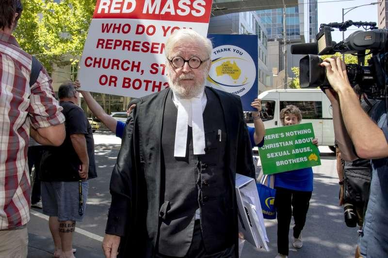 樞機主教性侵案:澳洲樞機佩爾的辯護律師黎希特(AP)