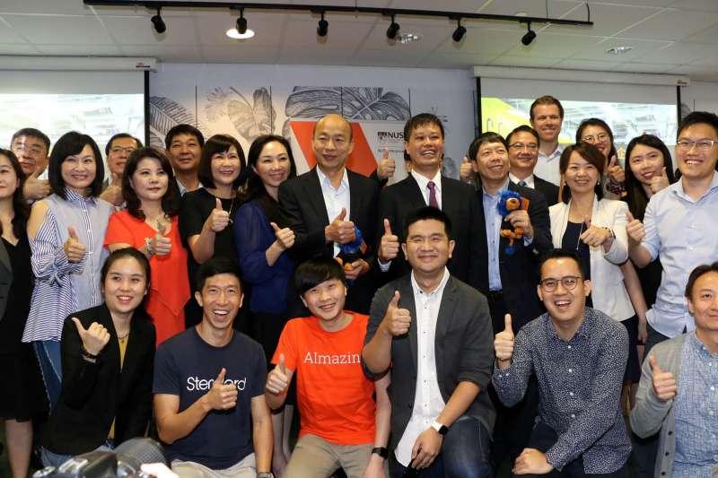 高雄市長韓國瑜最近甫自新加坡返國,準備在高雄設置「青創基地」,為競選期間拋出的百億「青年創業基金」兌現。(資料照,取自高雄市政府)
