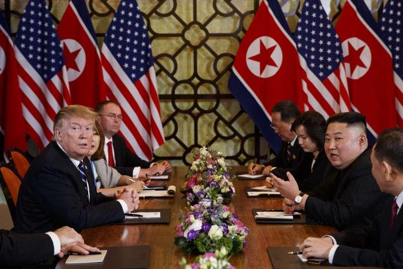 2019年2月28日河內川金會:美國總統川普與北韓領導人金正恩談判破局(AP)