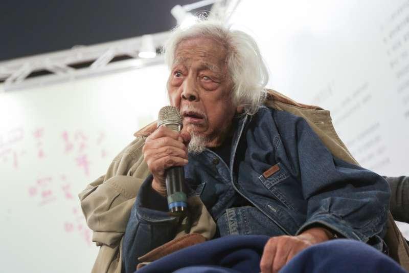 20190228-228共生音樂節,台灣獨立活動先驅史明亦至現場與民眾分享自己的想法。(簡必丞攝)