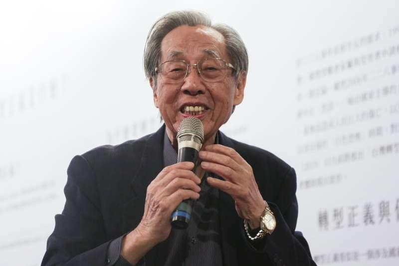 20190228-228共生音樂節,蔡焜霖先生至現場分享自己的故事。(簡必丞攝)