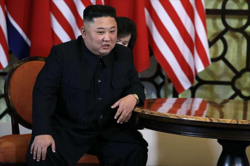 2019年2月28日河內川金會:北韓領導人金正恩(AP)