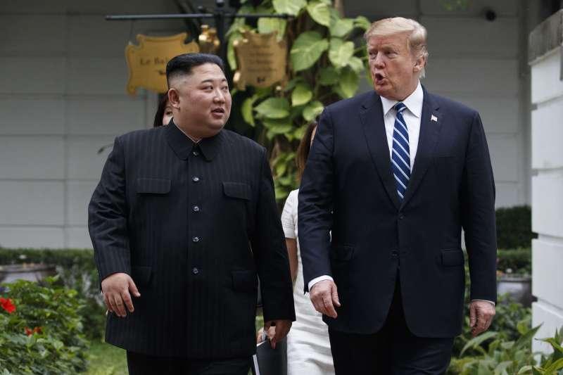 2019年2月28日河內川金會:美國總統川普與北韓領導人金正恩(AP)