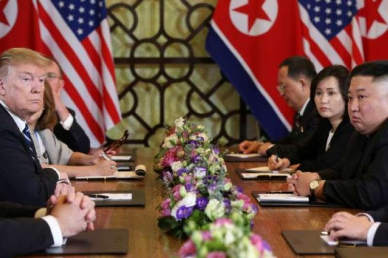 2019年2月28日越南河內: 朝鮮領導人金正恩和美國總統特朗普第二次雙邊會議。(美國之音)