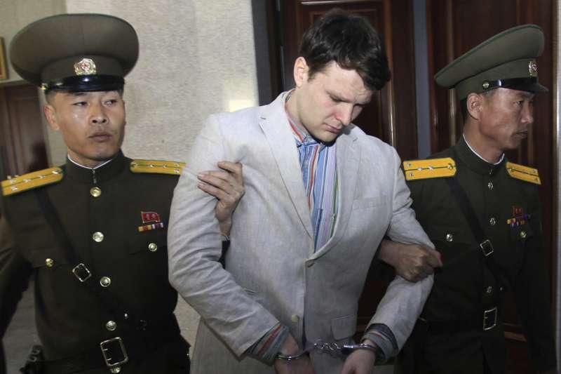 遭到北韓金正恩政權逮捕、囚禁、凌虐而英年早逝的美國大學生瓦姆比爾(Otto Warmbier)(AP)