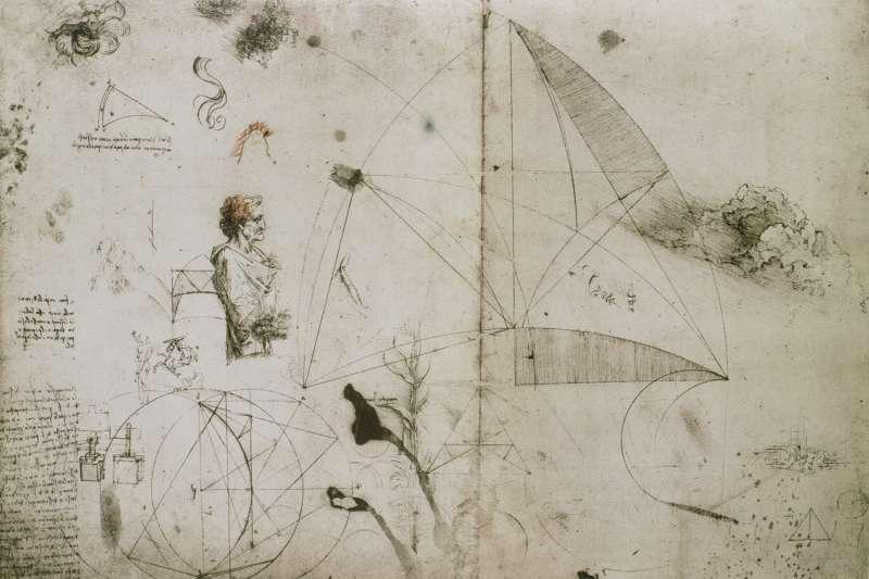 達文西的筆記,看似凌亂,其實是紀錄了他在許多領域的想法。(圖/商周提供)