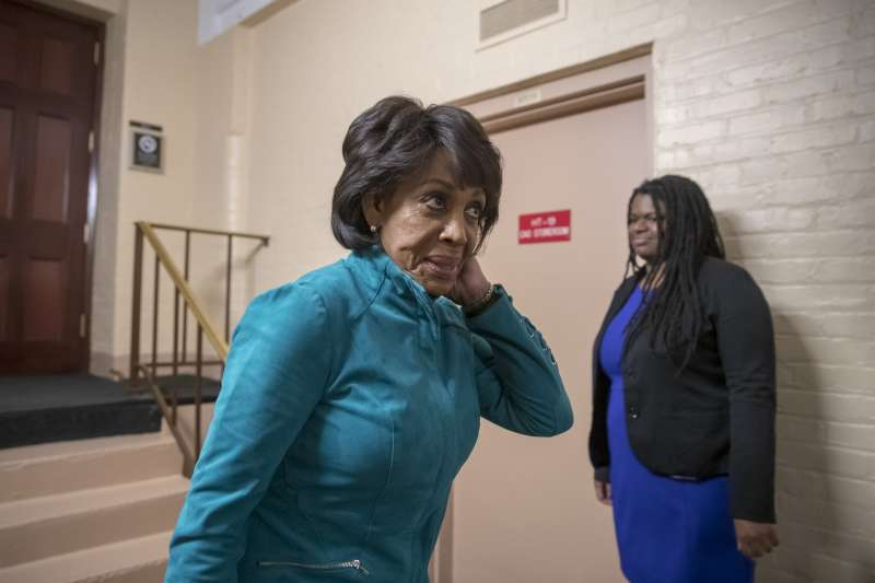 聯邦眾議院金融服務委員會主席華特斯(Maxine Waters)。(AP)