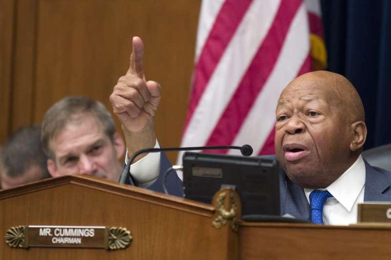 眾議院監督和改革委員會主席康明斯(Elijah E. Cummings)。(AP)