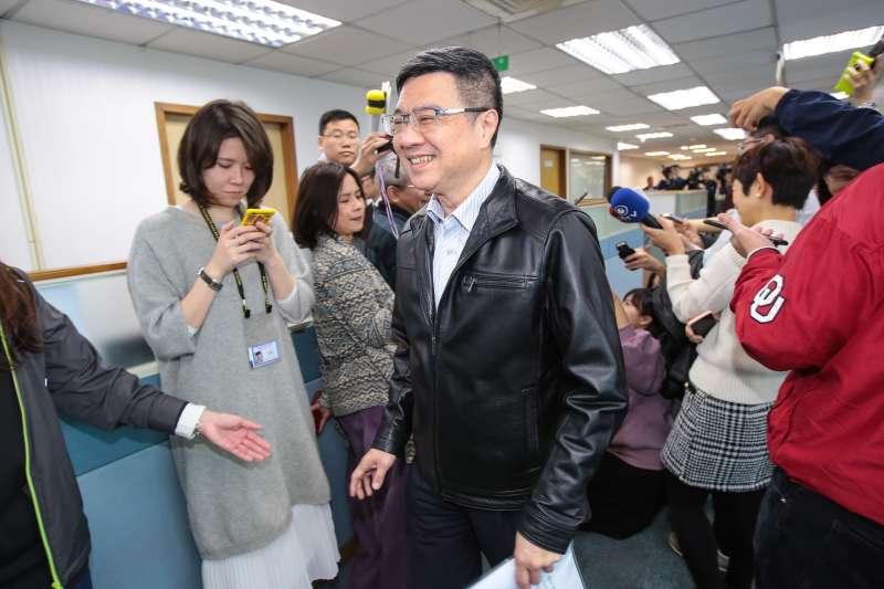 20190306-民進黨主席卓榮泰6日出席民進黨中常會。(顏麟宇攝)