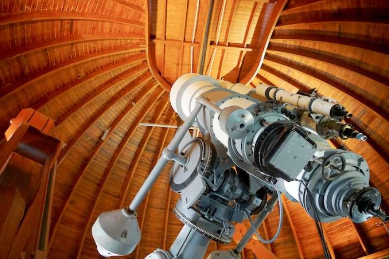 梵蒂岡天文台的望遠鏡(曾廣儀攝)