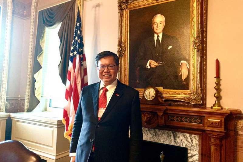 鄭文燦本次訪美,美方給予極高禮遇。桃園市長鄭文燦受訪時強調,自己是以地方首長、現任公職的身份來訪,並非為了選總統而來。(資料照,取自鄭文燦臉書)