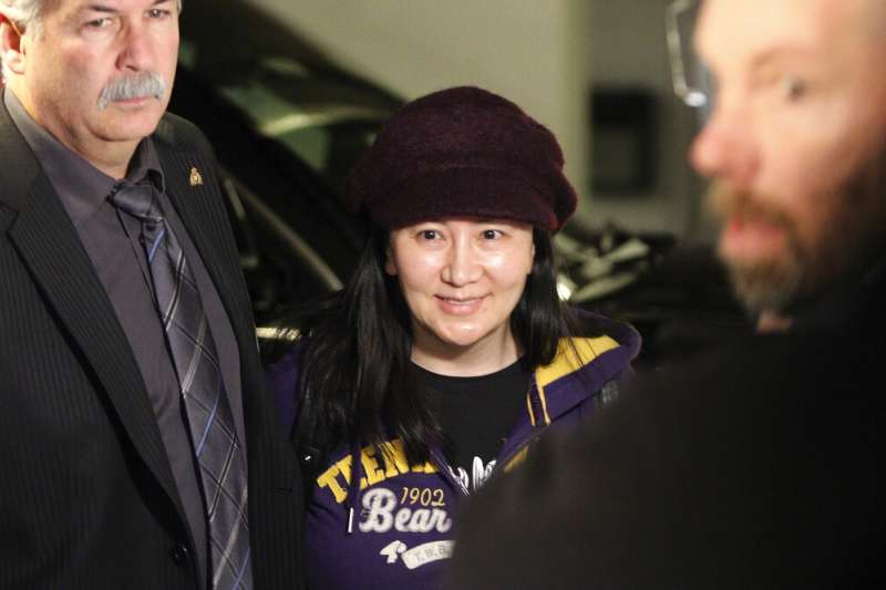 華為創辦人任正非之女孟晚舟6日在加拿大出庭。(美聯社)