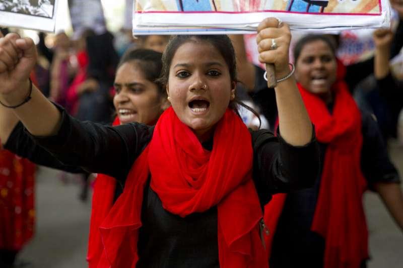 印度3月8日「國際婦女節」(AP)