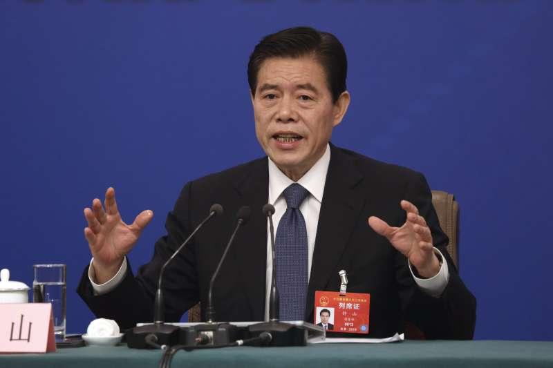 中國十三屆全國人大二次會議,商務部部長鐘山(AP)
