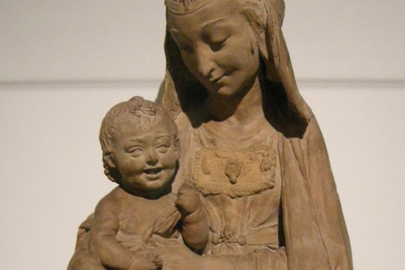 《聖母與露笑的聖子像》(sailko@Wikipedia / CC BY-SA 3.0)